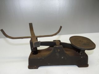 Antique Old Metal Iron Painted Merchants Weight Measuring Tool Scale Parts Nr photo