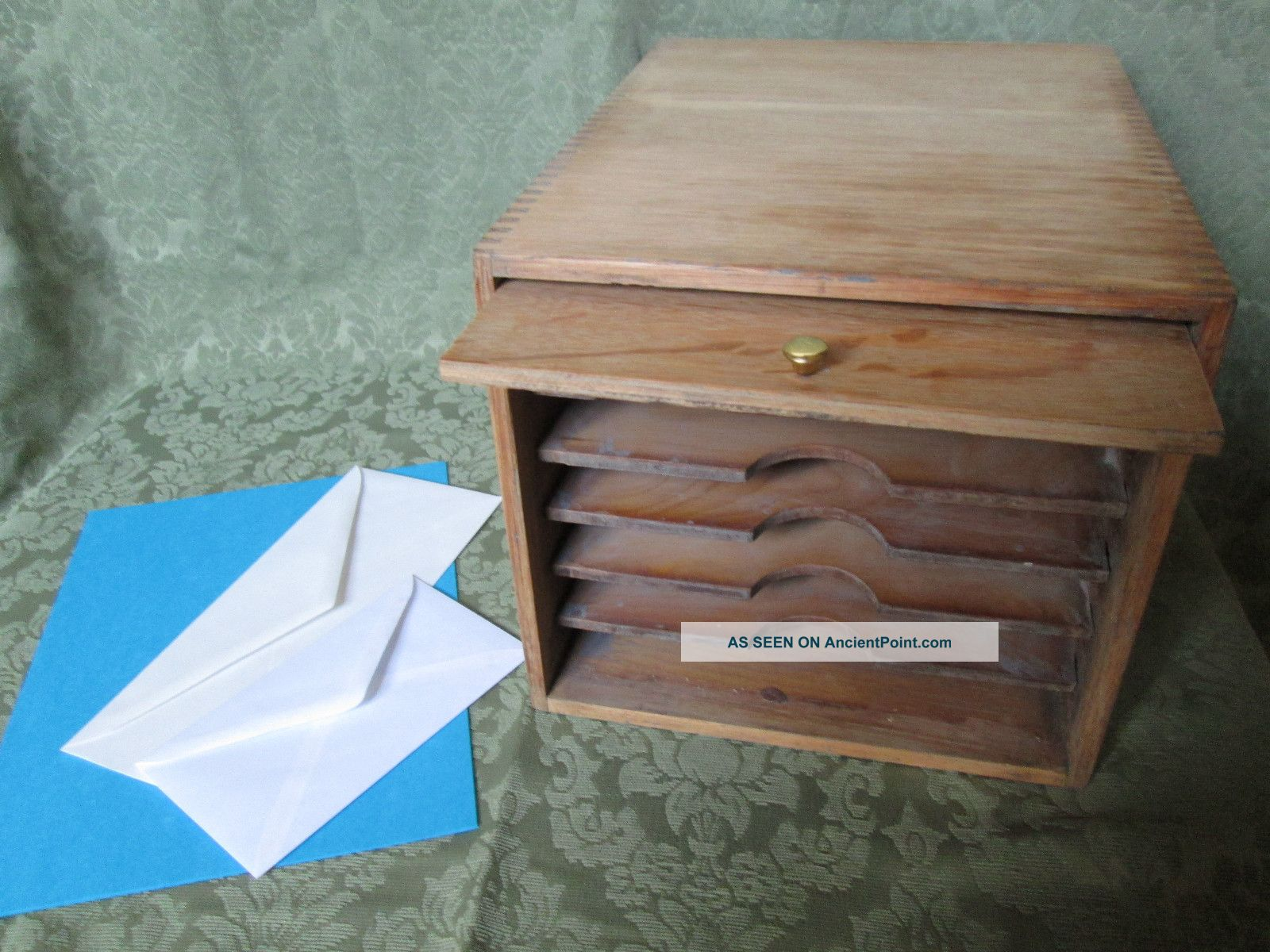 Unusual Vtg Office Paper Box,  Oak,  Machine Age Industrial Steampunk Decor Other photo