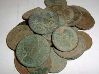 25 As Dug Old English Coins (metal Detecting Finds) photo