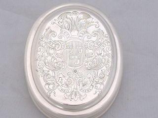 Armorial Queen Anne Brtannia Silver Tobacco Box L ' Don 1708 Edward Cornock photo