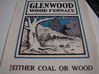 Glenwood Coal & Wood Furnace Advertising Flyer 1925? Glenwood Oak Model 022 photo