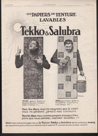 Fa 1913 Tekko Salubra Wall Paper Home Decor Wash Clean Art Paris Sun Design Ad photo