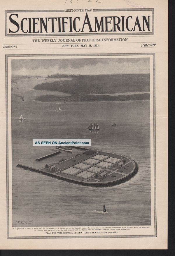 Fp 1913 Smith Sewage Island New York Hygiene Boat Port Ad Other photo