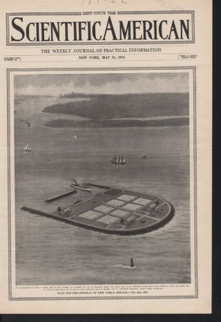 Fp 1913 Smith Sewage Island New York Hygiene Boat Port Ad photo