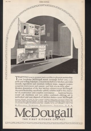 Fa 1920 Mcdougall Kitchen Cabinet Decor Home Sanitary Ice Box Frankfort Indiana photo
