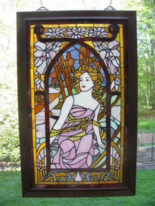 Alphonse Mucha Morning Art,  Stained Glass Window Panel photo