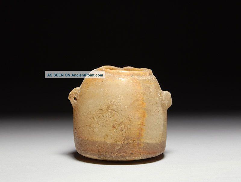 Ancient South Arabian Alabaster Yemen Beehive Jar 3rd Century B.  C. Near Eastern photo