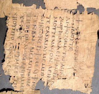 Greek - Coptic - Roman Rare Egyptian Papyrus Fragment photo