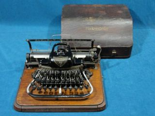 Antique 19thc Blickensderfer Model No 7 American Typewriter W/ Oak Case Nr photo