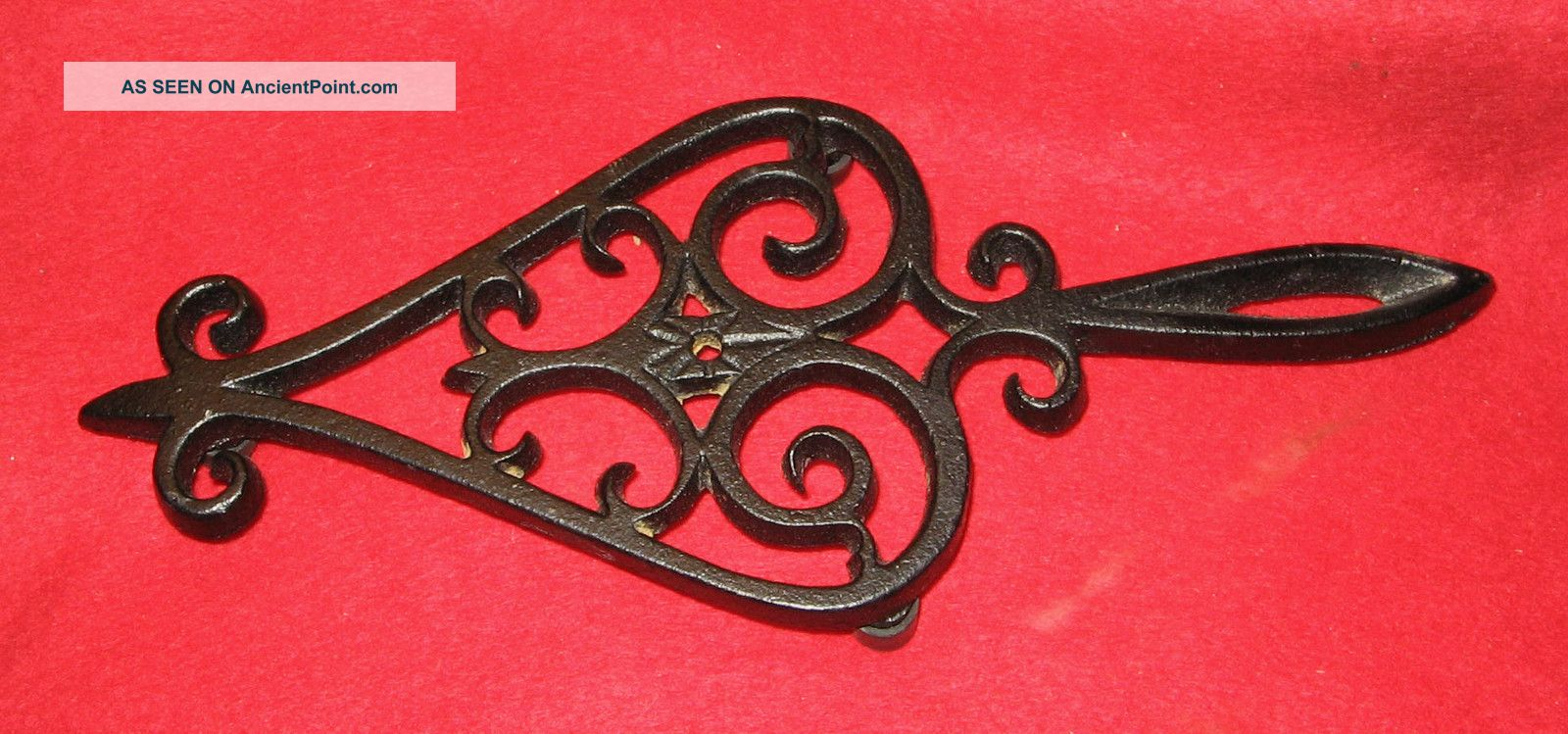 Vintage J.  Z.  H.  1952 Teardrop Cast Iron Trivet T - 18 Very Trivets photo
