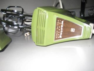 1970s Avocado Green And Wood Grain Vintage Waring Hand Mixer,  Mint Condition photo