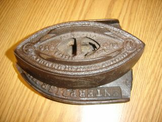 Antique Enterprise Mfg Co Philadelphia Usa,  Sad Iron And Trivet photo