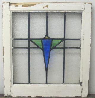 Old English Stained Glass Window Geometric Design photo