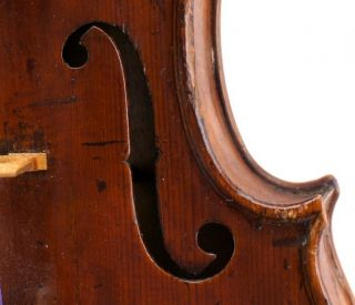 Very Old Antique German Violin C.  1800 - Very Good,  Very Dark Tone photo