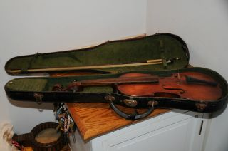Antique Antonius Stradivarius Cremonasis Faciebat Anno 16?? Made In Germany 4/4 photo