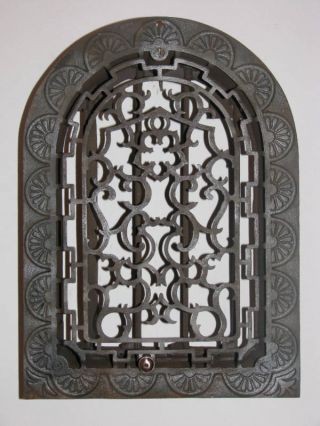 Five Pedal (8x12) Cast Iron Register Grate With Backing photo