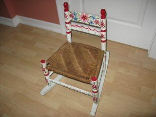 Fao Schwartz Rocking Chair Vintage 1970s Childrens Furniture Toys Wood photo