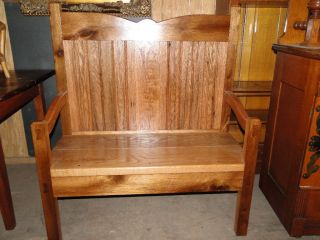 Solid Quartersawn Oak Bench photo