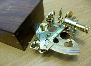 Brass Sextant 8