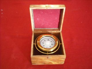 Nautical Brass Gimbal Ship Boxed Compass Collectible Ship Compass Marine Gift photo
