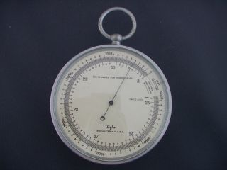 Taylor Art Deco Era Aluminum Barometer? Therometer?? Excellent Cond. photo