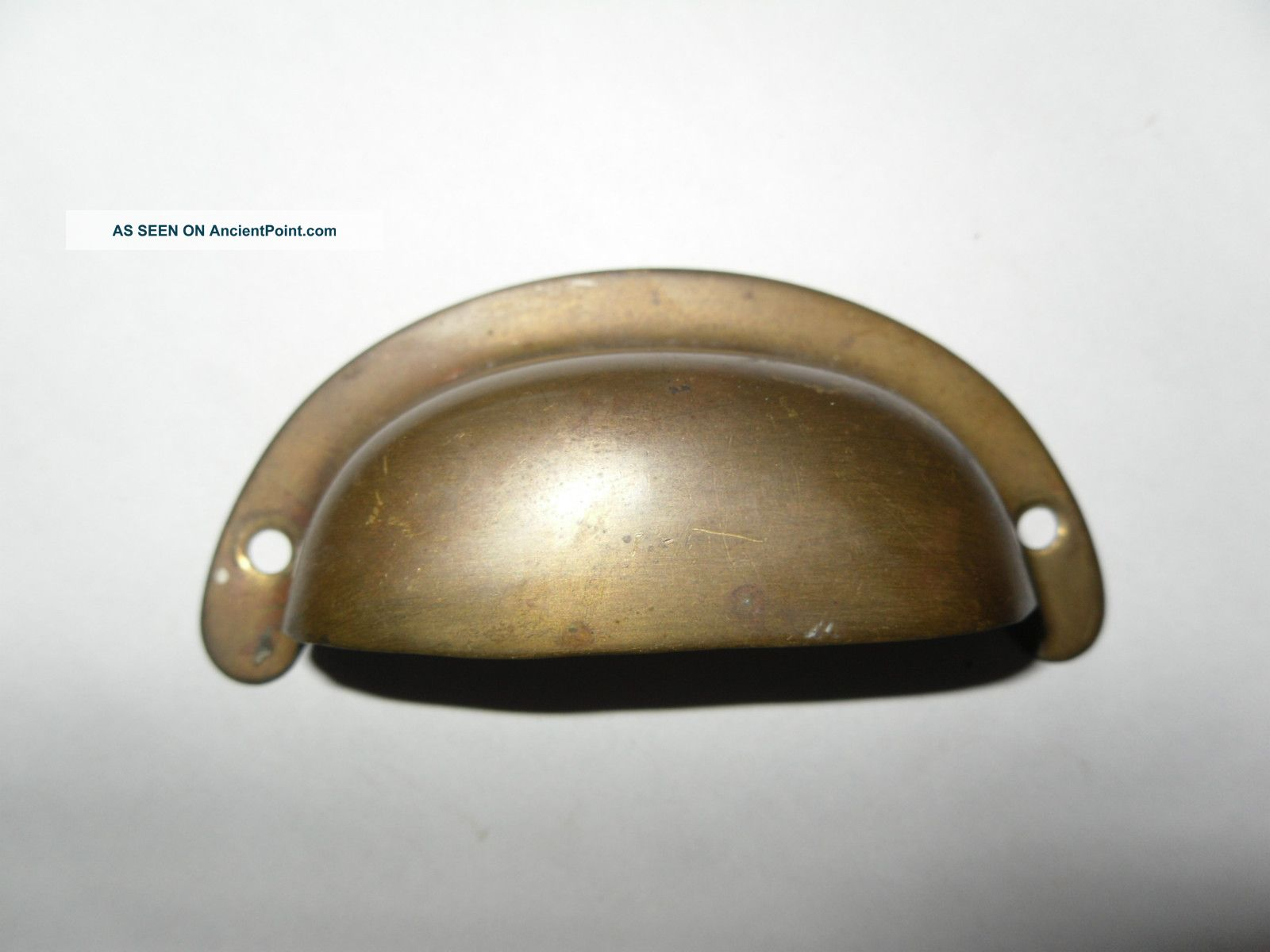 4 Vintage Brass Bin Drawer Pull Hardware Industrial Retro