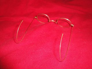 Antique Gold Rim Spectacles Eyeglasses Milford,  New Hampshire Nh photo
