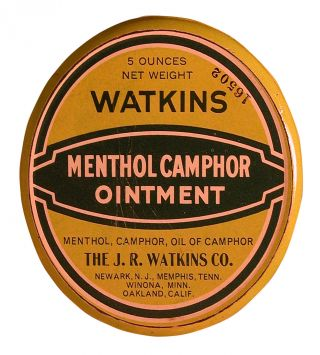 Watkins Tin Camphor Ointment Tin In Perfect Condition / Winona,  Mn photo