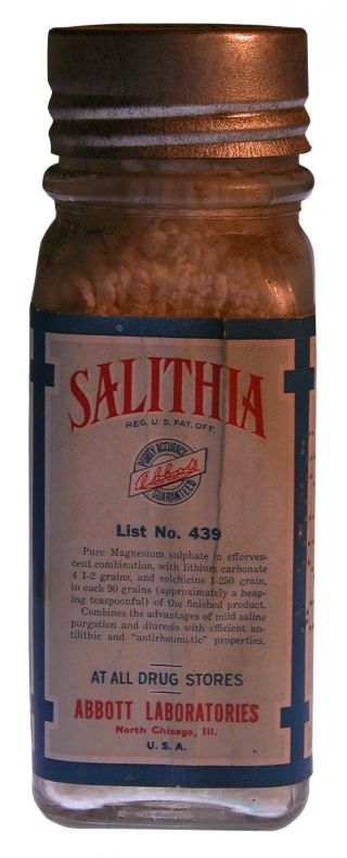 Abbott Salithia Pharmacological Med For Arthritis W/ Orig.  Contents Small Size photo