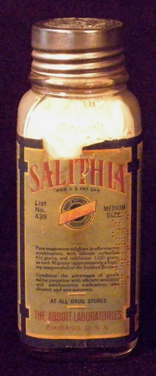 Abbott Salithia Pharmacological Med For Arthritis W/ Orig.  Contents Medium Size photo