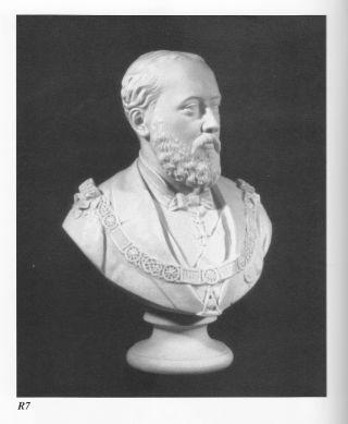 Giant Copeland Masonic Bust Of Hrh King Edward Vii (rare) photo