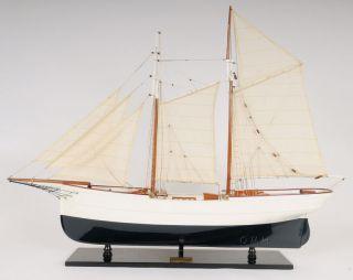 Schooner Wander Bird Yacht Wood Ship Model Sailboat 38
