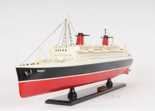Ss France Ocean Liner Wooden Model French Cruise Ship 32