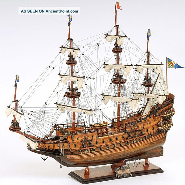 """Swedish Wasa Wooden Model Tall Ship Sailboat 29 """" Boat"""