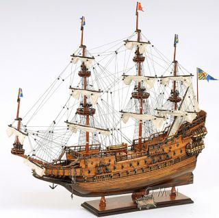Swedish Wasa Wooden Model Tall Ship Sailboat 29