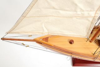 The America ' S Cup America Sailboat Wooden Model 24