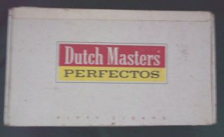 Dutch Masters Claro Perfectos Cigar Box Pa Usa Aprox 5x9 Vvgood Cond Po photo