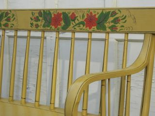 Sunny Yellow Cottage Hand Painted Deacon ' S Bench Windsor Bench photo