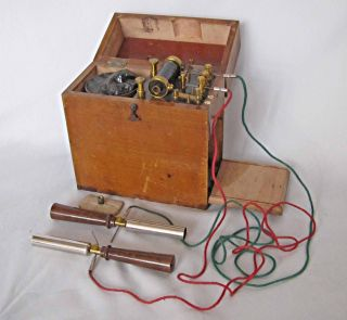 Victorian Antique Mahogany Electric Shock Machine Coil 1900 Medical photo