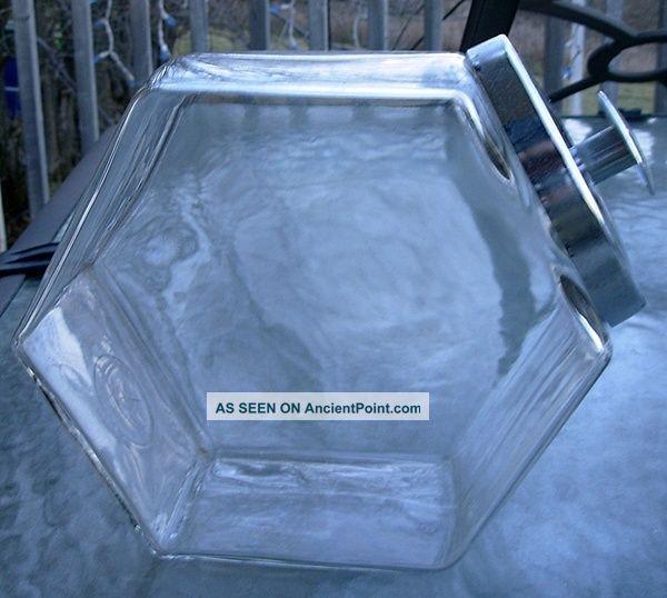Vtg Slant Front Glass 7.  5