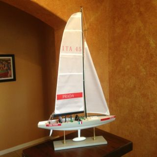 Prada Team Luna Rossa Sailboat Model Americas Cup Yacht Race - Day Collector Ship photo