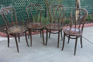 Vintage Cafe Style Chairs (4) photo