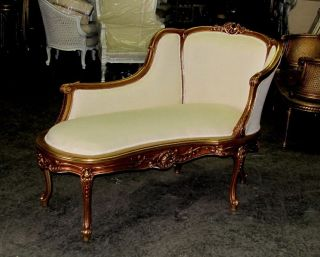 Gorgeous Gilt French Louis Xv Chaise Lounge Daybed photo