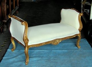 Chic French Country Gilded Louis Xv Daybed Bench Settee Sofa photo