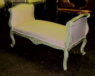 Chic French Country Painted Louis Xv Daybed Bench Settee Sofa photo