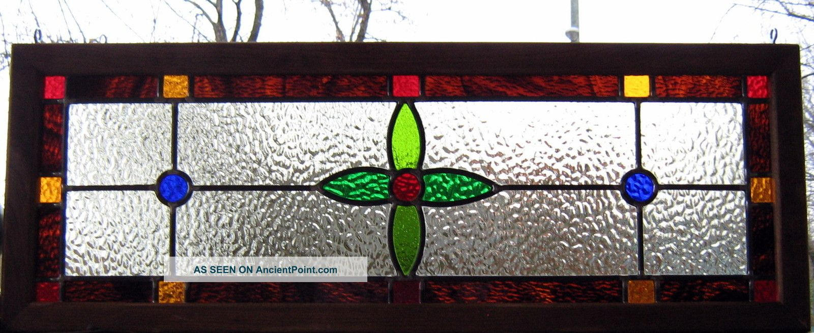 stained glass window transom panel