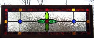 Stained Glass Window Transom Panel - Classic Victorian photo
