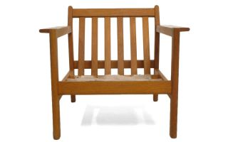 Borge Mogensen Danish Modern Lounge Chair 7 (avail) Oak photo