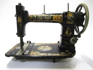 Very Rare Antique A.  G.  Mason Co New Defender Treadle Sewing Machine Must See photo