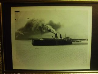 4x5 Real Photo Great Lakes Ship Boat Carferry Rr Chief Wawatam - Ice Breaker photo